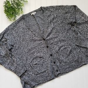 Maxwell Marled Landscape Cardigan Sweater sz Large